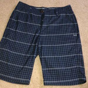 Men's Under Armour Plaid Khaki Shorts